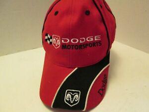 Dodge Motorsports Red Baseball Cap, Nascar 2002, New