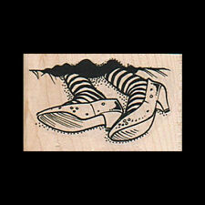 WICKED WITCH OF THE WEST FEET Rubber Stamp Wizard of Oz Rubber Stamp New