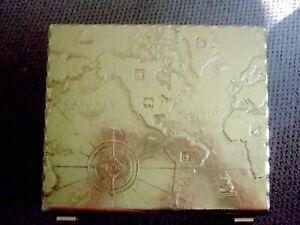 Arthur Armour 50s McM Aluminum Brass Magazine Rack World Map looks amazing ! EXC