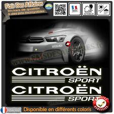 2 stickers autocollant citroen sport c1 c2 c3 ds ds1 ds2 ds3