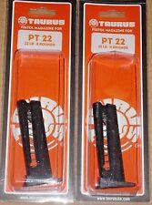 TWO Taurus FACTORY PT-22 Magazine 8 Round .22 LR Pistol 5-11221