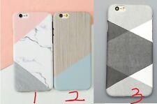 GRANITO Marmo Colore a contrasto PC Hard Cover Custodia Per iPhone 6/6s 7/7 Plus/Plus
