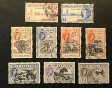 SIERRA LEONE 1946-1956 SELECTION USED