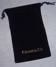 NEW Crane Velveteen Replacement Jewelry Silver Ornament Drawstring Pouch Bag 4X6