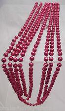 18 Feet Red Shiny 8mm Bead Garland~Plastic~Xmas,Tree s,Craft,Weddings