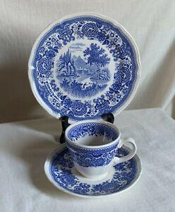 "Villeroy & Boch ""Burgenland"" Trio. Teacup, saucer and dessert plate. Black mark"