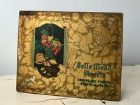 VTG Chocolates Tin Candy Box Belle Mead Sweets Basket Fruit Nut Graphics 1920