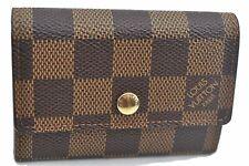 Authentic Louis Vuitton Damier Porte Monnaie Plat Coin Case N61930 LV E2318