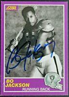 BO JACKSON Signed 1989 Score #384S Autographed Card *BO KNOWS* Oakland Raiders