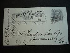 Postal History - USA - Postal Card - UX5  from Madison, FL to Savannah, Georgia