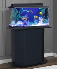 20 or 29 Gallon Aquarium Holder Wood Universal Reversible Stand With Storage