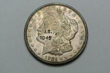 I.S. 1045 Counterstamp on 1921 Morgan Silver Dollar - C6216