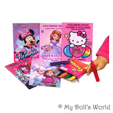 Coloring Books & Crayons - Accessories For 18 Inch Doll - Toy Fits American Girl