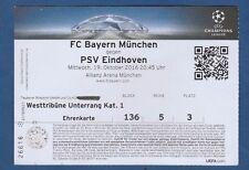 Orig.Ticket   Champions League  2016/17  BAYERN MÜNCHEN - PSV EINDHOVEN ! SELTEN