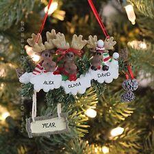 MOOSE FAMILY OF 3 CHRISTMAS Personalized Christmas Tree Ornament Kurt Adler