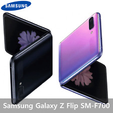 Samsung Galaxy Z Flip SM-F700 3G 4G LTE 256GB Unlocked Fold Mirror Purple Black