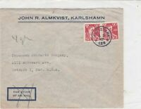 sweden 1962 stamps cover ref 19572