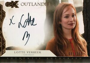 Outlander CZX, Lotte Verbeek 'Geillis Duncan' Autograph Card LV #051/105