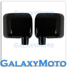 Gloss Shiny Black Full Mirror Cover All Black 1pair for 07-18 Jeep Wrangler JK