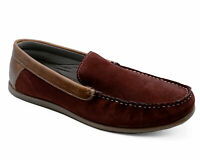 MENS REAL SUEDE LEATHER SLIP-ON COMFY DRIVING DECK MOCCASIN BOAT SHOES UK 6-12