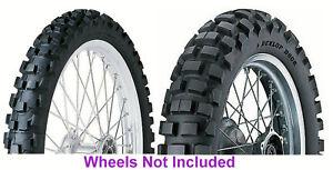 New 90/90-21 & 120/90-18 Dunlop D606 Tire Set For Honda  XR250L & Suzuki DRZ400
