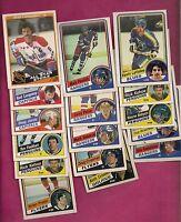16 X 1984-85 OPC NHL PLAYERS  CARD  (INV# A512 )