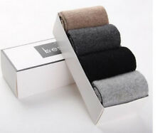 4 Pairs Mens 100% Wool Cashmere Socks Comfortable Warm Pure High Quality 7-10