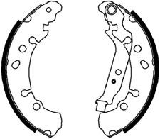 Rear Brake Shoe Set Fits Daihatsu Toyota OE 044950D040 Ferodo FSB4037