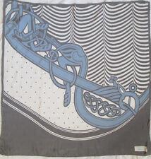 -Superbe Foulard HAUBER   100% soie  TBEG  vintage scarf  85 x 87 cm