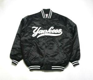 VINTAGE 2008 MAJESTIC Men's Satin jacket A3604BLK NEW YORK YANKEES (BLACK)