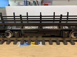 MTH Rail King 70-79003 Hillcrest Lumber Operating Flat Car - NEW - G / One Gauge