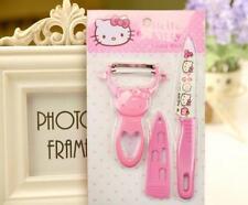 2pcs Pink Hello Kitty Fruit Parer Slicer and De-corer Cartoon Knife Peeler Tools