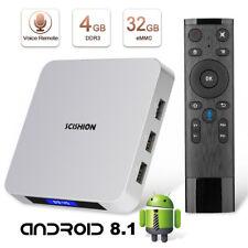 SCISHION AI ONE Smart TV BOX 4GB+32GB Android 8.1 Quad Core BT WIFI Multimedia