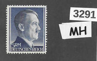 #3291   Adolph Hitler stamp / MH 1940s / 5RM Third Reich / WWII Germany Sc527a