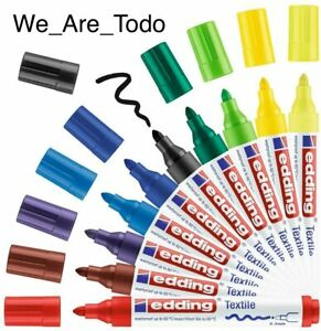edding - 10x Textile Marker Multicolour 4500 Writing Painting Highlight Tool