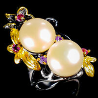 Discount Jewelry Natural Pearl 925 Sterling Silver Ring Size 7/R125080