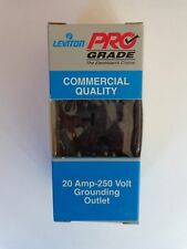 (A) Leviton 5801-SP BROWN Pro Grade Commerical Grounding 20A (QTY 20)