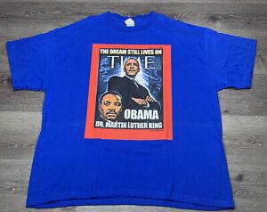 Barack Obama & MLK Time Magazine Short Sleeved T-Shirt 2008 XXL 2XL