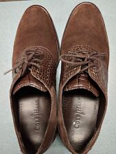 Cole Haan Brown Chestnut suede wingtip oxford dress shoes Size US 10