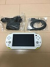 PlayStation PS Vita Wi-Fi Console Lime green / white PCH-2000ZA13 game Japan