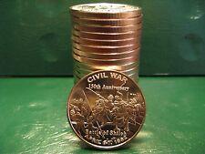 "20 ""Battle of Shiloh"" 1oz .999 Copper Rounds in a plastic tube Civil War Series"