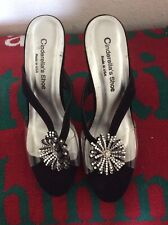 True Vintage 1950's Lucite & Rhinestone Embellished Heels Pumps Sz 8 Retro New