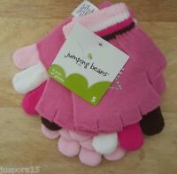 Jumping Beans NWT Girls Multi Color 3 Pack Gloves Size S