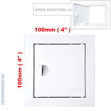 Access Panel Fit Hole 100 x 100 mm  White Inspection Hatch Door With Pull Handle