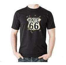 T-Shirt Biker Harley Davidson Route 66 Motorrad Bone Bobber Gangster Motiv 42