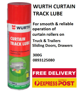 WURTH CURTAIN TRACK LUBE for Truck & Trailers, Sliding Doors, Drawers 300g