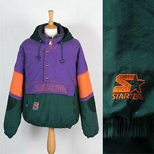 RARE VINTAGE 90'S PHOENIX SUNS STARTER JACKET COAT WARM PADDED NBA NINETIES L