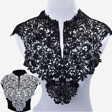Embroidery Flowers Lace Neckline Fabric Collar DIY handmade For Sewing Supplies