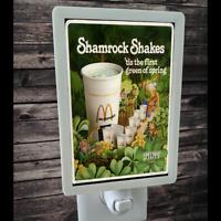 "McDonalds 1979 Shamrock Shakes Advertisement 4x6"" Photo Night Light 410"