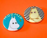 SET OF 2 MOOMIN TROLL BUTTON BADGES